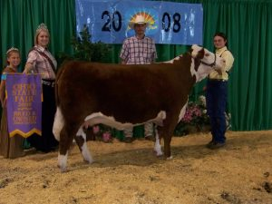 Sara Beth , Reserve Champion Herefors Heifer Ohio State Fair Jr.